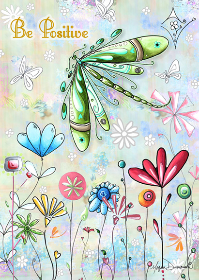 Whimsical dragonfly drawings - photo#14